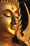 Aura de laiton de visage de Bouddha Photos stock