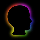Aura, energy field psychology head Royalty Free Stock Images