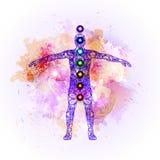 Aura i chakras ilustracji