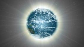 Aura odkrywa ziemię światło - Ziemska aura 004 HD royalty ilustracja