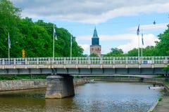 Aura river, in Turku Stock Photography