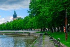 Aura river, in Turku Stock Photos