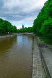 Aura river, in Turku Royalty Free Stock Image