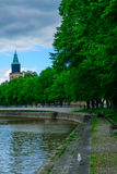 Aura river, in Turku Royalty Free Stock Images