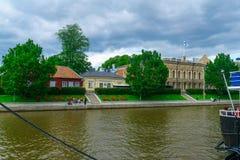 Aura river, in Turku Royalty Free Stock Image