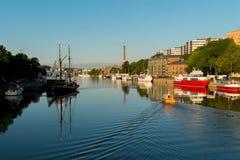 Aura River in Turku/in Finnland Lizenzfreie Stockbilder