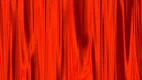 Aura vermelha da luz que brilha com a animação filme