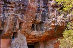 Aurangabad, Western group, area beneath cave 8, Aurangabad Caves, Aurangabad, Maharashtra stock photography