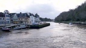 Auray, stad van Frankrijk in Bretagne stock videobeelden