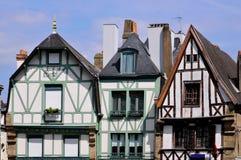 auray typiska france hus Fotografering för Bildbyråer