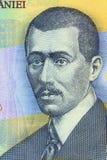 Aurel Vlaicu stående från rumänska pengar Arkivfoto