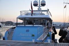 Aurelia för lyxmotoryacht  Royaltyfri Fotografi