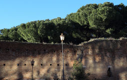 Aurelian walls in Rome Royalty Free Stock Images