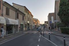 Aurelio Saffi gammal gata i Rimini, Italien Royaltyfria Foton