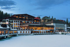 Aurelius旅馆, Poiana布拉索夫,罗马尼亚 免版税库存图片