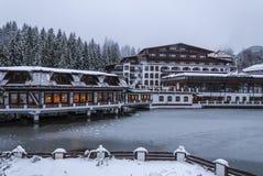 Aurelius Hotel, Poiana Brasov, Romania stock photos