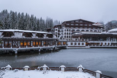Aurelius hotel, Poiana Brasov, Rumunia zdjęcia stock