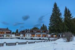 Aurelius Hotel in winter royalty free stock photos
