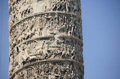aureliuskolonn marcus royaltyfri bild