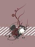 Auricular con las rayas Imagenes de archivo