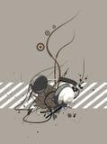 Auricular con las rayas Imagen de archivo