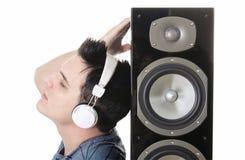 Auricular del sonido del locutor de los hombres Fotografía de archivo libre de regalías