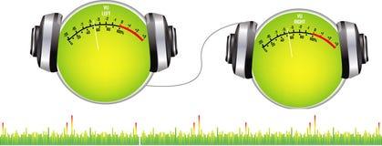 Auricular doble ilustración del vector