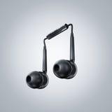 Auricular en forma de la nota musical Imagen de archivo