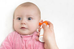 Auricular Hygiene Stock Images