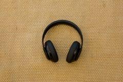Auricular negro Fotos de archivo libres de regalías