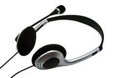 Auriculares com um microfone fotos de stock royalty free