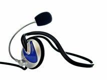 Auriculares con el micrófono Foto de archivo