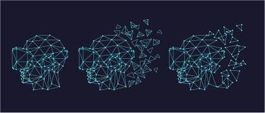 Auriculares da realidade virtual ilustração do vetor
