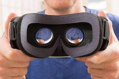Auriculares da realidade virtual Fotografia de Stock