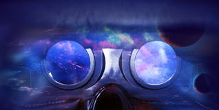 Auriculares da realidade virtual da vista Imagens de Stock Royalty Free