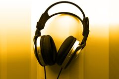 Auriculares de DJ Imagenes de archivo