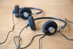 Auriculares de la conferencia audio Fotografía de archivo