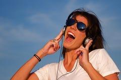 Auriculares de la música Fotografía de archivo