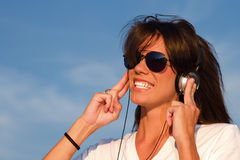 Auriculares de la música Imagenes de archivo