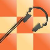 auriculares de la música Imágenes de archivo libres de regalías