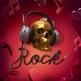 Auriculares de la música rock Imágenes de archivo libres de regalías