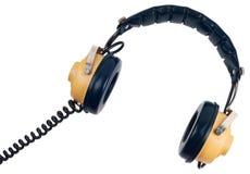 Auriculares de la vendimia Imagen de archivo libre de regalías