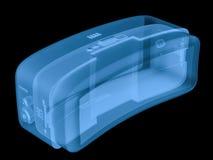 Auriculares del vr del rayo x aisladas en negro Fotos de archivo libres de regalías
