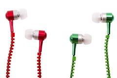 Auriculares el vacío musical Foto de archivo