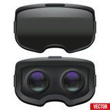 Auriculares estereoscópicas originales de 3d VR dentro Fotografía de archivo libre de regalías