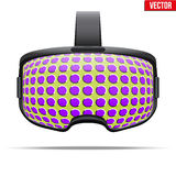 Auriculares estereoscopicamente originais de 3d VR ilustração stock