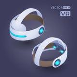 Auriculares isométricos da realidade virtual Fotos de Stock Royalty Free
