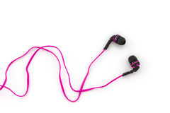 Auriculares rosados fotografía de archivo libre de regalías