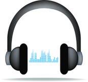 Auriculares y soundwaves libre illustration