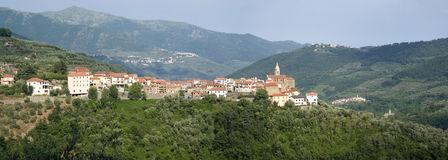 Aurigo. Ancient village in Liguria region of Italy Royalty Free Stock Image